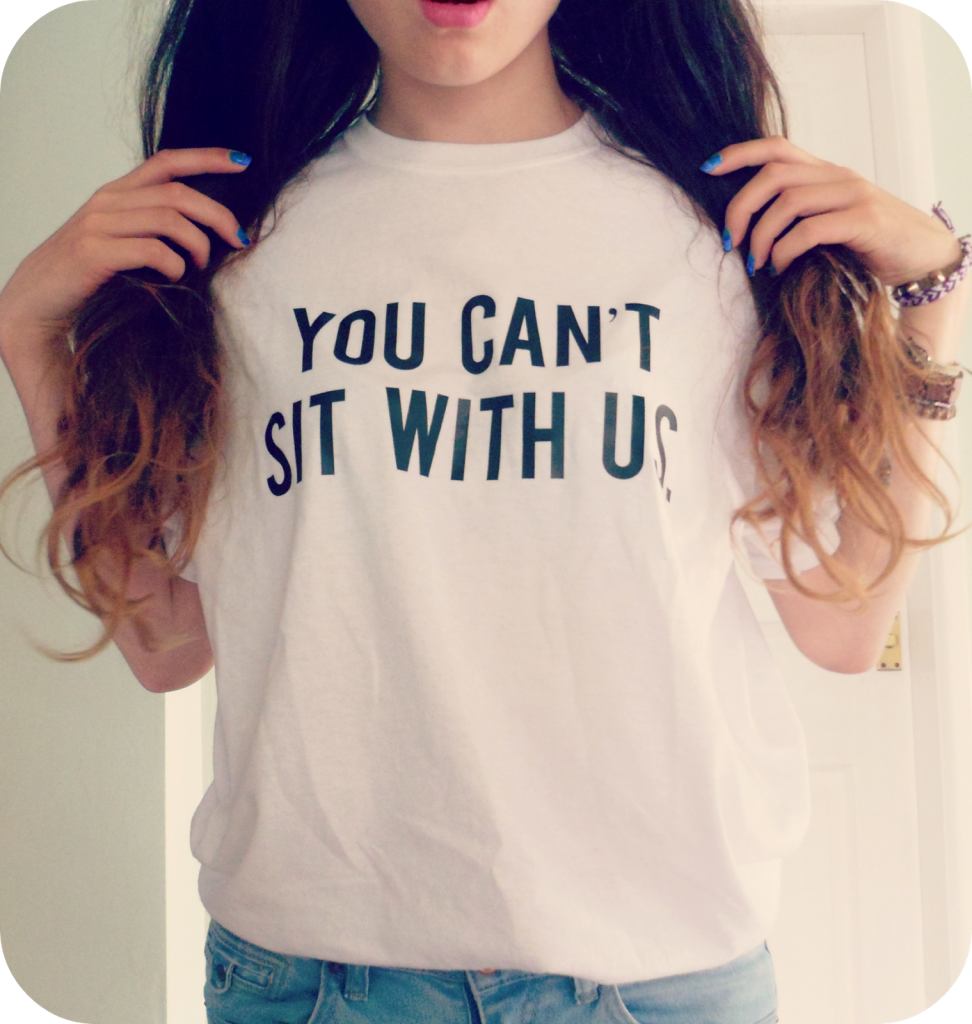 you can't sit with us t-shirt (1)